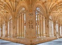SALAMANCA, SPAIN, APRIL - 16, 2016: The gothic atrium of monastery Convento de San Esteban Stock Photos
