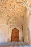 SALAMANCA, SPAIN, APRIL - 16, 2016: The gothic atrium of monastery Convento de San Esteban Stock Images