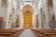 SALAMANCA, SPAIN, APRIL - 16, 2016: The nave of monastery Convento de San Esteban Stock Images