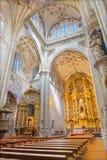 SALAMANCA, SPAIN, APRIL - 16, 2016: The nave of monastery Convento de San Esteban Royalty Free Stock Images