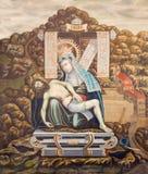 SALAMANCA, SPAIN, APRIL - 16, 2016: The painting of pieta in church monastery Convento de San Esteban by unknown artist Royalty Free Stock Photography
