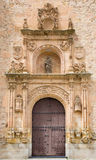SALAMANCA, SPAIN, APRIL - 18, 2016: The plateresque portal of of Convento de las Duenas. From 16. cent Royalty Free Stock Photography