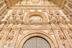SALAMANCA, SPAIN, APRIL - 17, 2016: The portal of Convento de San Esteban by Juan Ribero de Rada (1590 - 1592) Royalty Free Stock Photo