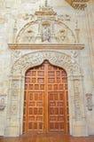 SALAMANCA, SPAIN, APRIL - 16, 2016: The renaissance portal Puerta de San Jose in atrium of monastery Convento de San Esteban Stock Photos