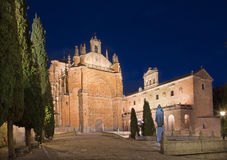 SALAMANCA, SPAIN, APRIL - 17, 2016: The statue of Pater Pio in church Capilla de San Francesco by unknown artist of 20. cent. Royalty Free Stock Photography