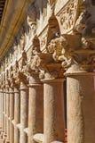 SALAMANCA, SPAIN, 2016: The detail of columns in the atrium of Convento de las Duenas. Stock Photo