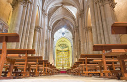 SALAMANCA, SPAIN, 2016: The gothic main nave Old Cathedral (Catedral Vieja). SALAMANCA, SPAIN, APRIL - 16, 2016: The gothic main nave Old Cathedral (Catedral Stock Images