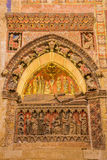 SALAMANCA, SPAIN, 2016: The gothic tomb of bishop Maurio Rubio Repulles in Old Cathedral (Catedral Vieja). Stock Photography