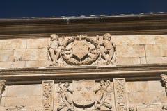 Salamanca Spain: historic building, detail Royalty Free Stock Photo