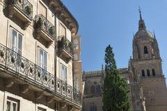 Salamanca Spain: historic cathedral Stock Photo