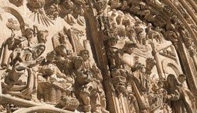 Salamanca Spain: historic cathedral Stock Photos
