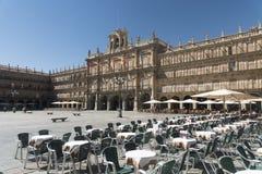 Salamanca Spain: historic Plaza Mayor Stock Images