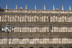 Salamanca Spain: historic Plaza Mayor Stock Photo