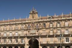 Salamanca Spain: historic Plaza Mayor Stock Photos