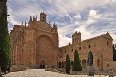 The Convento de San Esteban is a Dominican monastery situated in the Plaza del Concilio de Trento in the city of Salamanca Spain. royalty free stock photo