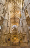 SALAMANCA, SPAIN, 2016: The nave of New Cathedral (Catedral Nueva). The nave of New Cathedral (Catedral Nueva), Spain, Salamanca, APRIL - 16, 2016 Royalty Free Stock Photography