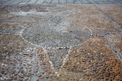 Salamanca in spain stones flooring detail Stock Images