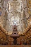 SALAMANCA, SPANJE, APRIL - 16, 2016: Het koor van Nieuwe Kathedraal Catedral Nueva Stock Afbeeldingen