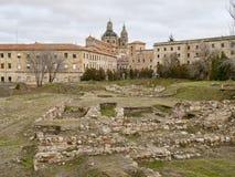 Salamanca stary teren z tyłu katedry zdjęcie royalty free