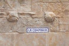 Salamanca street sign. Castilla y Leon region, Spain royalty free stock images
