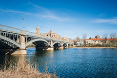 Salamanca with Tormes River and Cathedral. Castile and Leon, Spa Stock Photography