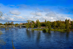Salamanca Tormes river in Spain Royalty Free Stock Photography