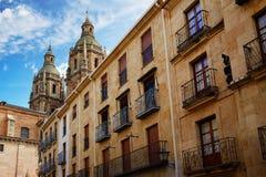 Salamanca university and Clerecia church Spain Stock Photography