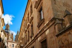 Salamanca university and Clerecia church Spain Royalty Free Stock Photo