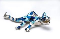 Salamander στην άσπρη ανασκόπηση Στοκ Φωτογραφίες