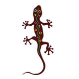 Salamander color art  silhouette Royalty Free Stock Photography
