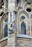 Salamander on one of the facades of La Sagrada Familia in Barcelona. stock photography