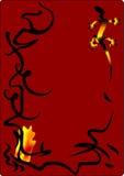 Salamander, symbol of fire. Alchemical salamander, symbol of fire element, vector illustration Stock Images