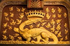 The Salamander, symbol of Francois I Royalty Free Stock Photography