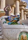 Salamandre Barcelone Gaudi de mosaïque photographie stock libre de droits