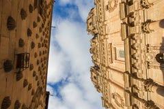 SALAMANQUE, ESPAGNE, AVRIL - 17, 2016 : La La portaile baroque Clerecia - université pontificale Image libre de droits
