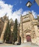SALAMANQUE, ESPAGNE, 2016 : Le portail gothique du sud de Catedral Vieja - vieille cathédrale Photographie stock libre de droits