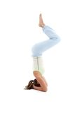 Salamba sirsasana supported headstand #5 Royalty Free Stock Photos