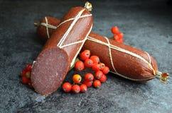 Salame da salsicha bio fotografia de stock