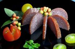 Salame da salsicha bio fotos de stock royalty free