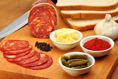 Salame del Chorizo Fotografia Stock