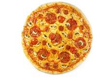 Salame della pizza fotografie stock libere da diritti