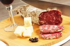 Salame e formaggio Immagine Stock Libera da Diritti