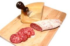 Salame en fromage royalty-vrije stock fotografie