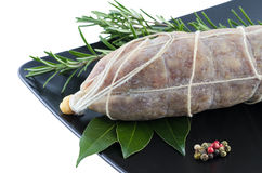 Salame italiano della carne di maiale fotografie stock