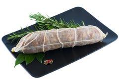 Salame italiano della carne di maiale fotografia stock