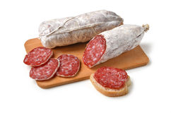 Free Salame On Cutting Board Stock Images - 71134604