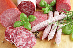 Salami Photographie stock