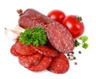 Salami Royalty-vrije Stock Afbeeldingen