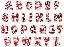 Salami alphabet, vector Stock Photo