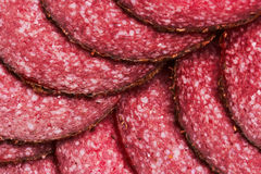 Salami background Stock Photo